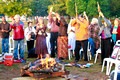 0060: Sunrise Peace Pipe Ceremony, Honoring Fire, Clyde Bellecourt (Ojibway) and Others